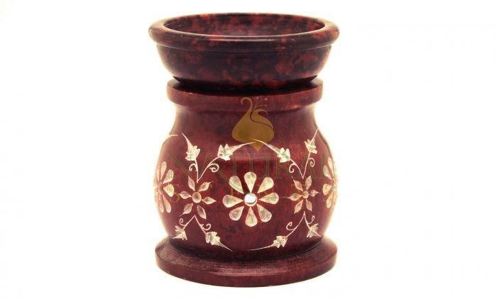 Red Soapstone Fragrance Oil Burner