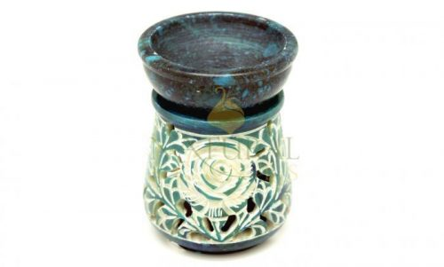 Carved Soapstone Essential Oil Burner
