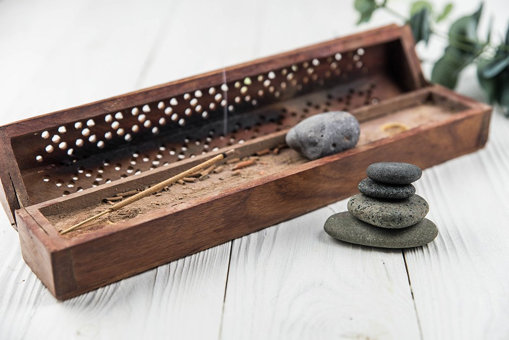 Incense sticks holder box