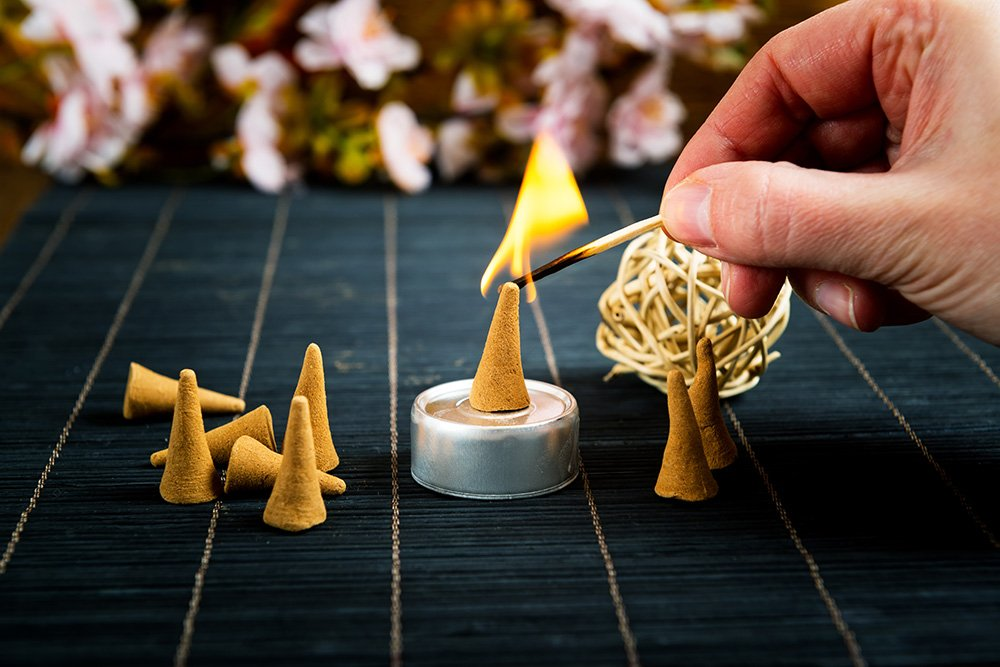 Natural Sandalwood Incense Cones