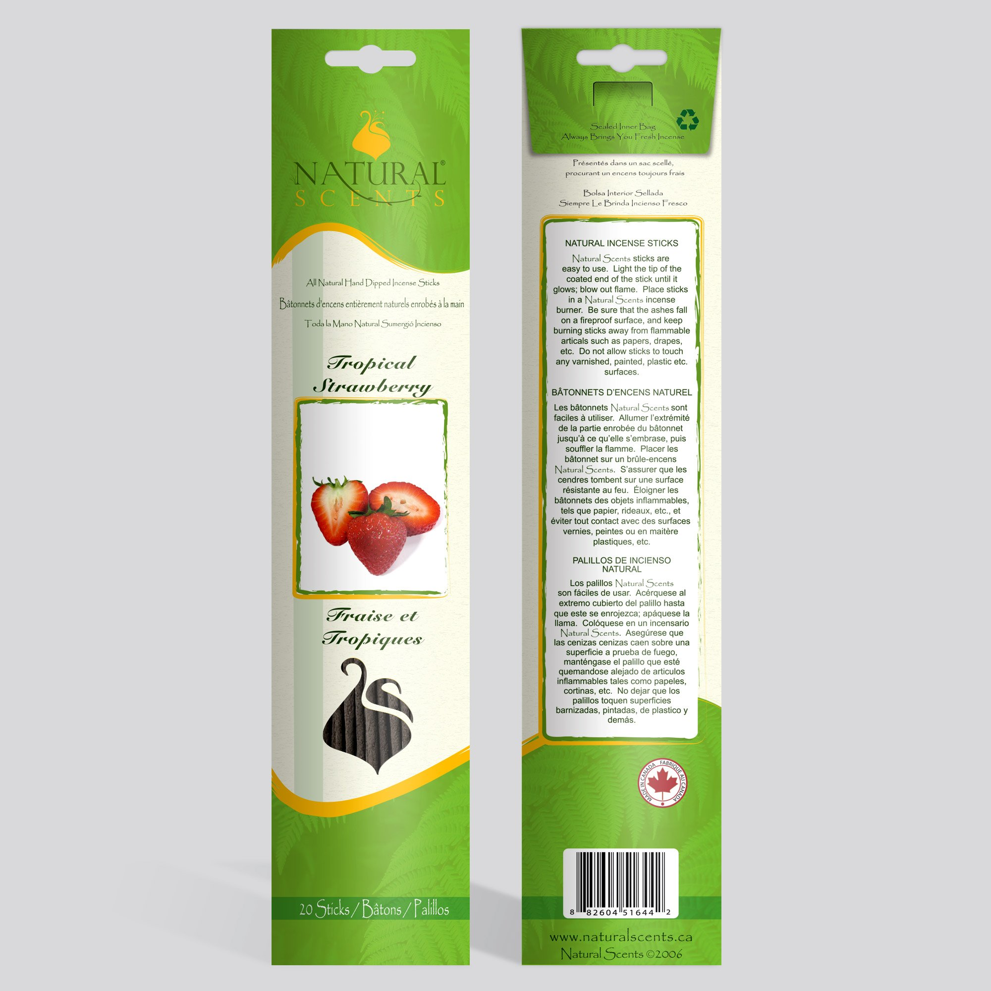 Tropical Strawberry Incense Sticks